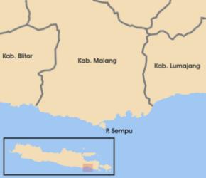 bagi yang penasaran letak Pulau Sempu di Peta, nah Pulau Sempu itu yang satu titik kecil di bawah Kab. Malang