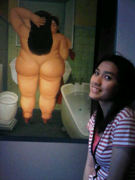 Salah satu lukisan di hostel kami :D