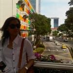 Gedung Warna Warni ini berada di depan Hotel Novotel Singapore
