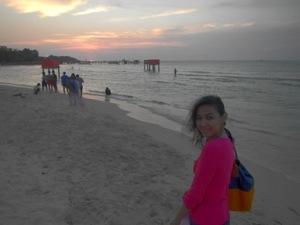 pose setelah matahari tenggelam