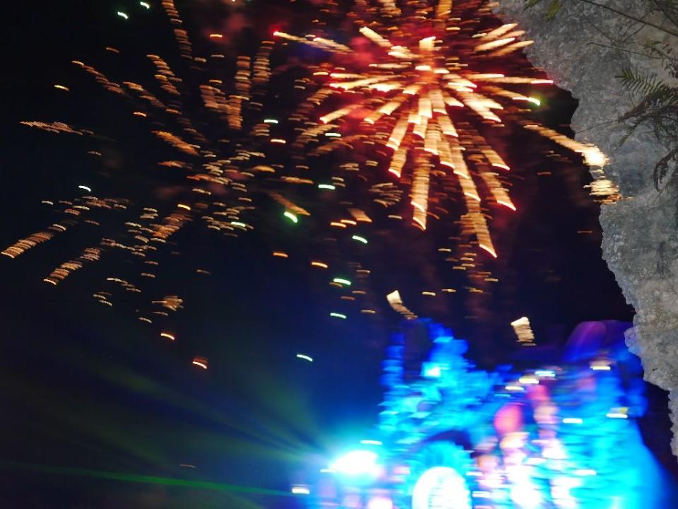 fireworks at Anggun Performance