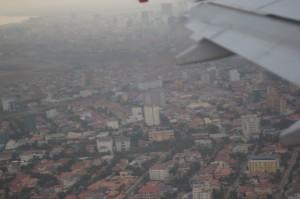 Phnom Pehn dari pesawat