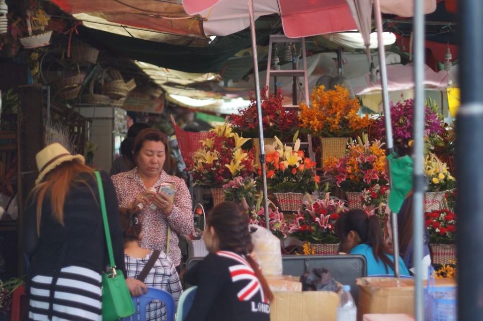 pedagang bunga di central market