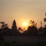 susnset di sungai Mekong