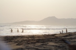 Sore hari di Sunset Beach